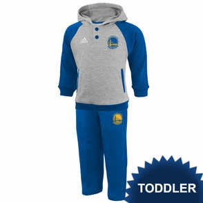 Golden State Warriors adidas Toddler Fleece Hoody & Pant Set - Grey - Click to enlarge