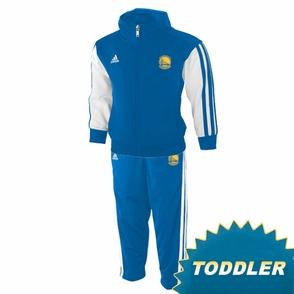 Golden State Warriors adidas Toddler Full Zip Track Jacket & Pant Set - Royal - Click to enlarge