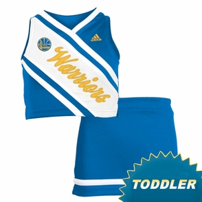Golden State Warriors adidas Toddler Girls 2-Piece Cheerleader Set - Royal/White - Click to enlarge