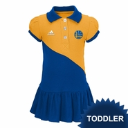 Golden State Warriors adidas Toddler Good Sport Polo Dress - Royal