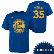Golden State Warriors adidas Toddler Kevin Durant #35 Gametime Name & Number Tee - Royal