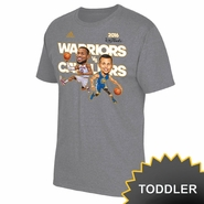 Golden State Warriors adidas Toddler NBA Finals Curry vs Lebron Caricature Tee - Grey