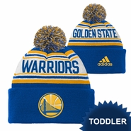 Golden State Warriors adidas Toddler Partial Logo Cuffed Knit with Pom � Royal/Gold