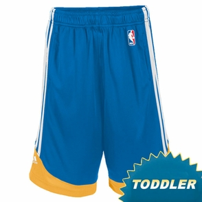 Golden State Warriors adidas Toddler Royal Blue Pre-Game Shorts - Click to enlarge