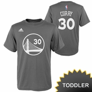 Golden State Warriors adidas Toddler Stephen Curry #30 Name & Number Tee � Slate