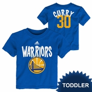 Golden State Warriors adidas Toddler Stephen Curry Whirlwind Short Sleeve Tee � Royal
