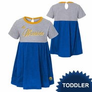 Golden State Warriors adidas Toddler Team Script Baby Doll Dress - Grey/Royal