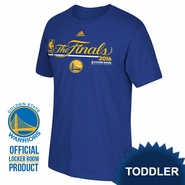 "Golden State Warriors adidas Toddler ""The Finals"" Authentic Edition Locker Room Tee - Royal"