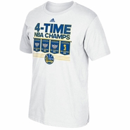 Golden State Warriors adidas TRB Champs Banner Tee - White