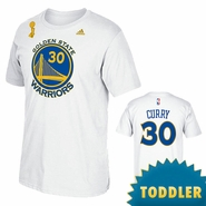 Golden State Warriors adidas TRB Champs Toddler Stephen Curry Name & Number Tee - White