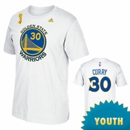 Golden State Warriors adidas TRB Champs Youth Stephen Curry Name & Number Tee - White