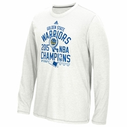 Golden State Warriors adidas TRB No Distressed Play Long Sleeve Climalite Tee - White