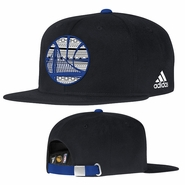 Golden State Warriors adidas Tribal Pattern Strapback Cap - Black