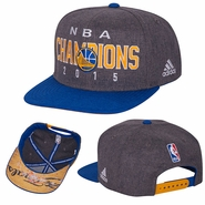 Golden State Warriors adidas Trophy Ring Banner Snapback - Grey