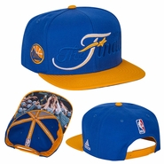 Golden State Warriors adidas Trophy Ring Banner Snapback - Royal