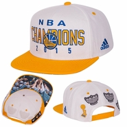 Golden State Warriors adidas Trophy Ring Banner Snapback - White
