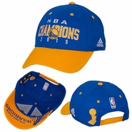 Golden State Warriors adidas Trophy Ring Banner Structured Adjustable Cap - Royal