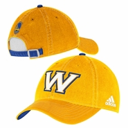 "Golden State Warriors adidas ""W"" Adjustable Slouch Cap - Gold"