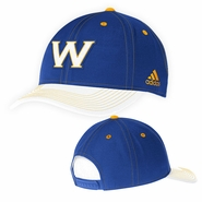 "Golden State Warriors adidas ""W"" Logo Structured Adjustable Cap - Royal"