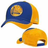 Golden State Warriors adidas White Stitched Structured Adjustable Cap � Royal/Gold