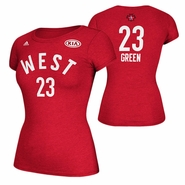 Golden State Warriors adidas Women's 2016 NBA All-Star Draymond Green #23 Western Conference Gametime Player Tee - Red
