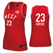 Golden State Warriors adidas Women's 2016 NBA All-Star Draymond Green #23 Western Conference Replica Jersey - Red