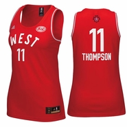 Golden State Warriors adidas Women's 2016 NBA All-Star Klay Thompson #11 Western Conference Replica Jersey - Red