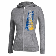 Golden State Warriors adidas Women's All Net Tri-Blend Full Zip Jacket - Grey