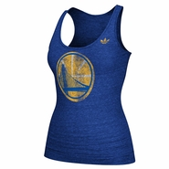 Golden State Warriors adidas Women's Bigger Better Logo Tri-Blend Tank - Royal