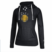 Golden State Warriors adidas Women's Bigger Better Retro Logo Pullover Hoodie - Black