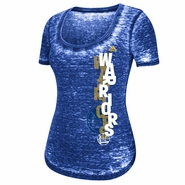 Golden State Warriors adidas Women's Burnout French Terry Scoop Pebble Text Tee - Royal
