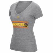 Golden State Warriors adidas Women's Chinese Heritage Mascot Hook V-neck Tee - Grey