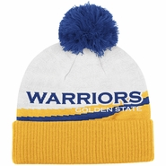 Golden State Warriors adidas Women's Cuffed Pom Knit Beanie - Gold/White
