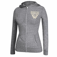 Golden State Warriors adidas Women's Full Zip Tri-Blend Internet Hoodie - Grey