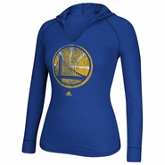 Golden State Warriors adidas Women�s Long Sleeve �Her Full Color Primary� Hooded Tee - Royal