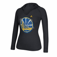 Golden State Warriors adidas Women's Long Sleeve Hocus Pocus Hooded Tee - Black