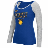 Golden State Warriors adidas Women�s Long Sleeve �The City� 3D Block Type Marled/Slub Tee