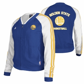 Golden State Warriors adidas Women's On-Court Woven Jacket - Royal/White - Click to enlarge