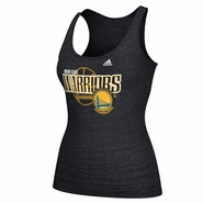 Golden State Warriors adidas Women's Overlay Triblend Tank - Black