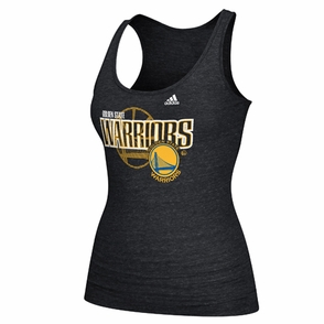 Golden State Warriors adidas Women's Overlay Triblend Tank - Black - Click to enlarge