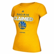 Golden State Warriors adidas Women's Pacific Division Champions Tee - Gold - Will Ship 3/31