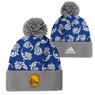 Golden State Warriors adidas Women�s Paisley Pattern Cuffed Pom Knit