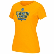 Golden State Warriors adidas Women's Playoff Giveaway Tee - Gold