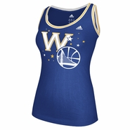 Golden State Warriors adidas Women's Scoop Neck Star Tank Top - Royal/White