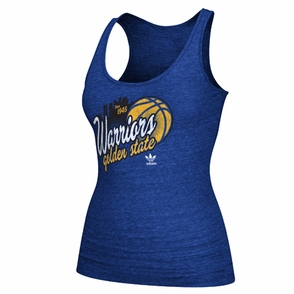 Golden State Warriors adidas Women's Skyline Tank Top - Royal - Click to enlarge