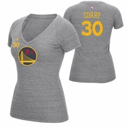 Golden State Warriors adidas Women's Stephen Curry #30 Chinese Heritage V-neck Tee - Grey