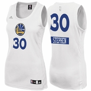 Golden State Warriors adidas Women's Stephen Curry #30 Christmas Day Replica Jersey - White - <b>Will Ship December 5th</b>