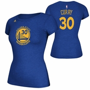 Golden State Warriors adidas Women�s Stephen Curry #30 Name & Number Tee � Royal