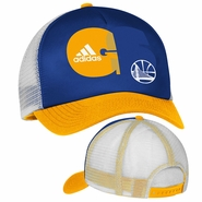 Golden State Warriors adidas Women's Truck Mesh Snapback - Royal/Gold