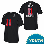 Golden State Warriors adidas Youth 2015 All-Star Klay Thompson #11 Tee - Black - Will Ship 2/6
